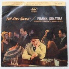 Discos de vinilo: FRANK SINATRA - NO ONE CARES - STORMY WEATHER - ORQUESTA GORDON JENKINS - CAPITOL RECORDS. Lote 103225179