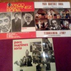 Discos de vinilo: PACO MARTINEZ SORIA. 3 LPS. Lote 103230316