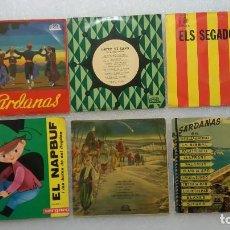 Discos de vinilo: LOTE VINILOS SENCILLOS EN CATALÁN ELS SEGADORS SARDANAS. Lote 103245259