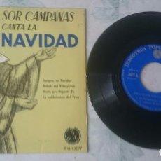 Discos de vinilo: SOR CAMPANAS CANTA A LA NAVIDAD: AMIGOS, ES NAVIDAD + 3 (DISCOTECA PAX 1966). Lote 103252103