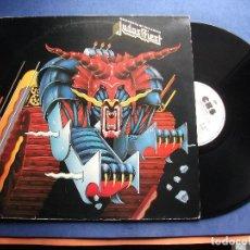 Discos de vinilo: JUDAS PRIEST DEFENDERS OF THE FAITH LP SPAIN 1984 PEPETO TOP. Lote 103272871