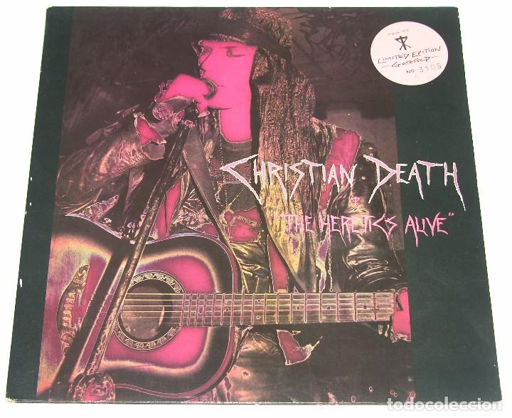 CHRISTIAN DEATH - THE HERETICS ALIVE - 1989 - PROPHETS RECORDS - JUNGLE RDS  - GATEFOLD