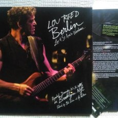 Discos de vinilo: LOU REED - '' BERLIN: LIVE AT ST. ANN'S WAREHOUSE '' 2 LP + INNER USA 2008. Lote 103280851
