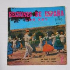 Discos de vinilo: LOS XEY. - REGIONES DE ESPAÑA. - SANTANDER QUÉ BELLO ES. LAS CHICAS DE LOGROÑO. TDKDS9. Lote 103283743