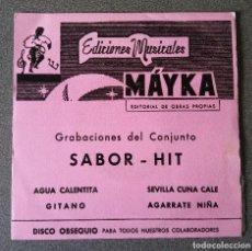 Discos de vinilo: MAYKA SABOR HIT EP SINGLE. Lote 103289975