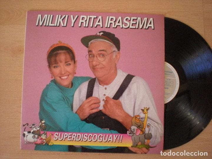 MILIKI Y RITA IRASEMA SUPERDISCOGUAY!! LP 1992 HORUS LOS PAYASOS DE LA TELE TV (Música - Discos - LPs Vinilo - Música Infantil)