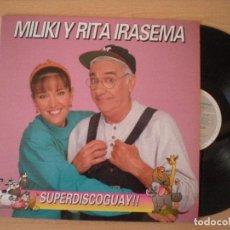 Discos de vinilo: MILIKI Y RITA IRASEMA SUPERDISCOGUAY!! LP 1992 HORUS LOS PAYASOS DE LA TELE TV. Lote 103301939