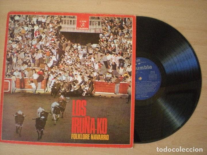 LOS IRUÑA-KO FOLKLORE NAVARRO DIFICIL. VINILO EXCELENTE ESTADO. DIFÍCIL (Música - Discos - LP Vinilo - Grupos Españoles de los 70 y 80)