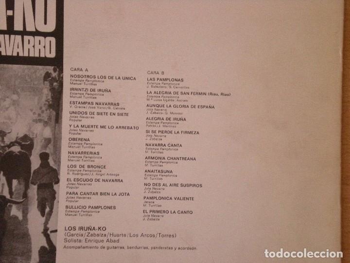 Discos de vinilo: los iruña-ko folklore navarro dificil. VINILO EXCELENTE ESTADO. Difícil - Foto 2 - 103302895