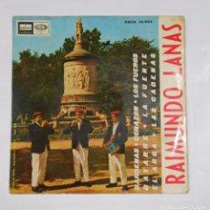 Discos de vinilo: RAIMUNDO LANAS EL RUISEÑOR NAVARRO. BARDENAS. CORAZON. LOS FUEROS. GAYARRE. EL ARGA. TDKDS9. Lote 103306179