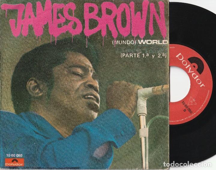 JAMES BROWN - MUNDO (SINGLE POLYDOR 1969 ESPAÑA) (Música - Discos - Singles Vinilo - Funk, Soul y Black Music)
