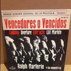 Discos de vinilo: B.S.O. VENCEDORES O VENCIDOS. / RALPH MARTERIE. EP / 1962 / MBC. ***/***. Lote 103309555