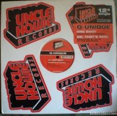 Discos de vinilo: Q-UNIQUE – ONE SHOT / ME, THAT'S WHO PROD. BEATNUTS. Lote 103315367