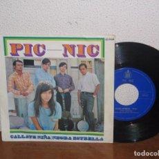 Discos de vinilo: PIC-NIC 7´´ MEGA RARE VINTAGE SPAIN 1967. Lote 103316955