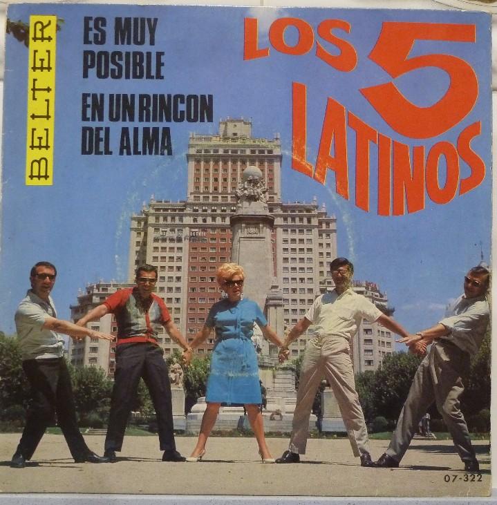 LOS 5 LATINOS (Música - Discos - Singles Vinilo - Grupos Españoles 50 y 60)