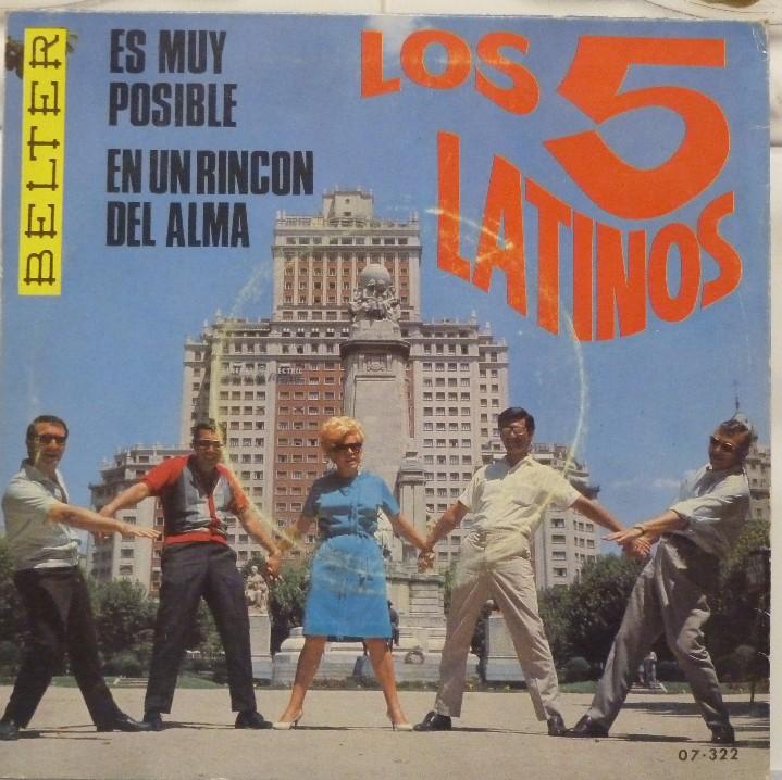 Discos de vinilo: LOS 5 LATINOS - Foto 2 - 103301451
