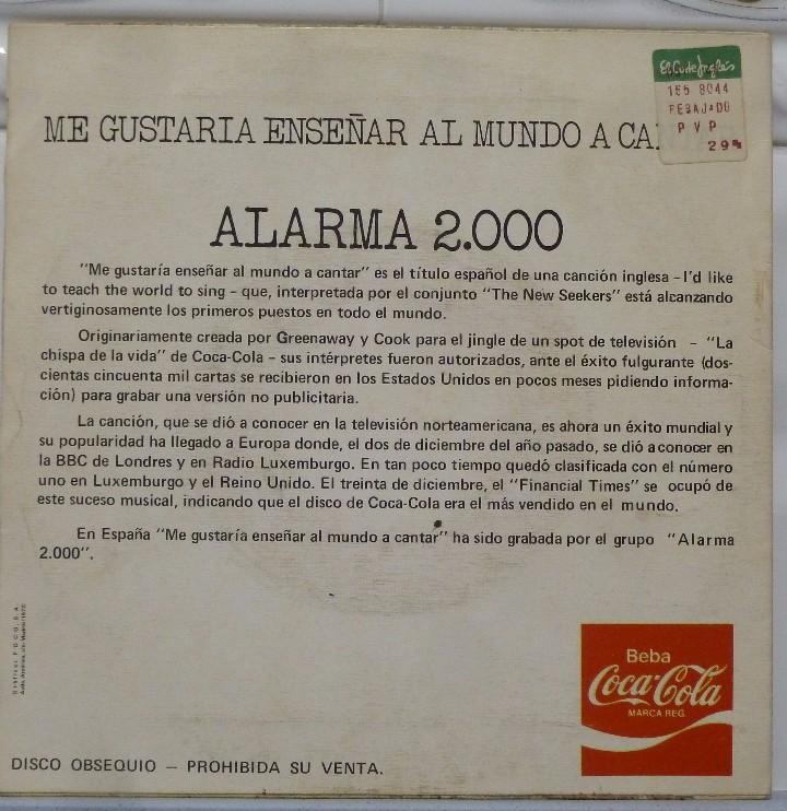 Discos de vinilo: ALARMA 2000 - Foto 2 - 103301648