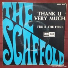 Discos de vinilo: THE SCAFFOLD- PAUL MCCARTNEY - BEATLES - THANK U VERY MUCH-SINGLE - ESPAÑA- EXCELENTE ESTADO. Lote 103332731