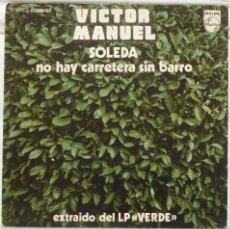 Discos de vinilo: VICTOR MANUEL - SOLEDA. Lote 103301311