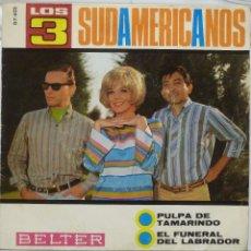 Discos de vinilo: LOS 3 SUDAMERICANOS. Lote 103301395