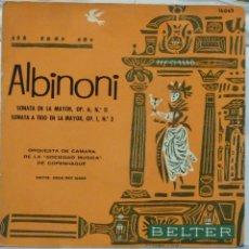 Discos de vinilo: ALBINONI - BELTER 1961. Lote 103301399
