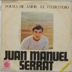 Discos de vinilo: JUAN MANUEL SERRAT - EL TITIRITERO. Lote 103301435