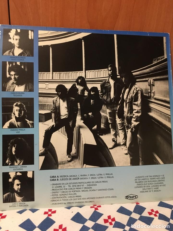 Discos de vinilo: DRAGON-MUSICA/JUEGOS DE AMOR-1990-ESKAPE PRODUCCIONES-MUY MUY RARO-VINILO NUEVO-HEAVY ROCK - Foto 2 - 103336187