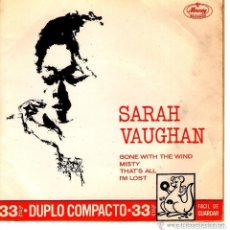 Discos de vinilo: SARAH VAUGHAN GONE WITH THE WIND MUY RARO. Lote 103363223