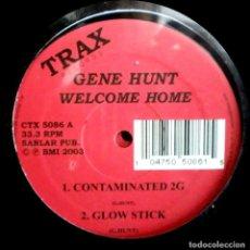 Discos de vinilo: GENE HUNT – WELCOME HOME DOBLE MAXI -TRAX RECORDS HOUSE, TECHNO, DEEP HOUSE . Lote 103365471