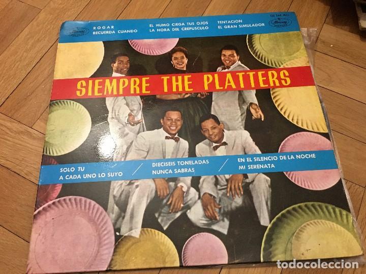 VINILO SIEMPRE THE PLATTERS LP MERCURY DE 1962 (Música - Discos - LP Vinilo - Funk, Soul y Black Music)