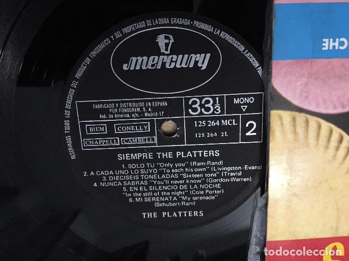 Discos de vinilo: VINILO SIEMPRE THE PLATTERS LP MERCURY DE 1962 - Foto 2 - 103368279