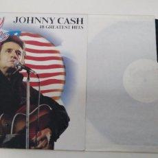 Discos de vinilo: ANTIGUO DISCO DE 10 EXITOS DE JOHNNY CASH . Lote 102644551