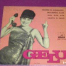 Discos de vinilo: GELU - CANTO O FADO SIEMPRE ES DOMINGO MOLIENDO CAFE GIN GIN GIN 162 . Lote 103379907