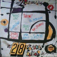 Discos de vinilo: VINILO 28 GRANDES EXITOS DE WEA/CBS 1986. Lote 103381731