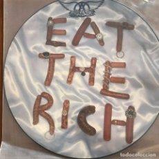 Discos de vinilo: AEROSMITH - EAT THE RICH - MAXISINGLE GEFFEN GERMANY 1993 PICTURE DISC. Lote 103383267