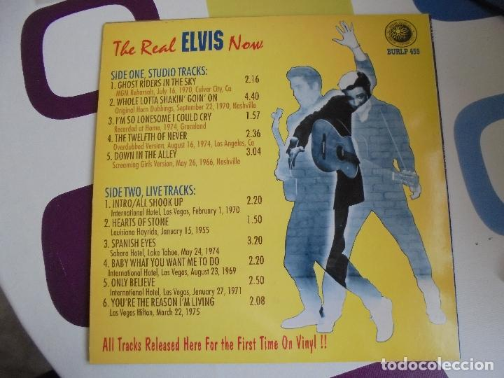 Discos de vinilo: THE REAL ELVIS NOW - LP 10 PULGADAS - RARÍSIMO. - Foto 4 - 103391579