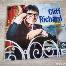 Discos de vinilo: CLIFF RICHARD - CONGRATULATIONS EUROVISION 1968. Lote 103402683