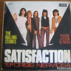 Discos de vinilo: THE ROLLING STONES - SATISFACTION ************ RARO SINGLE ESPAÑOL 1971. Lote 103448599