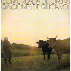 Discos de vinilo: CORAL RUADA DE ORENSE - CANCIONES DE GALICIA VOL 1 - LP 1975. Lote 103485359