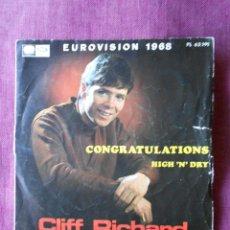 Discos de vinilo: CLIFF RICHARDS EUROVISON SINGLE EMI-LA VOZ DE SU AMO 1968. Lote 103486715