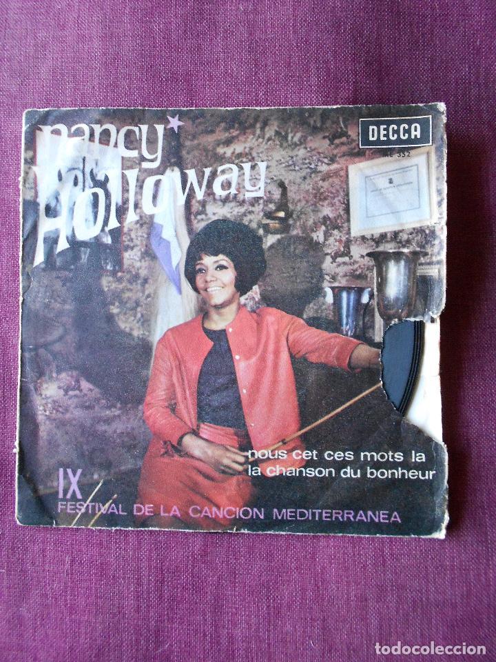 NANCY HOLLOWAY SINGLE NOUS CET CES MOTS LA, DECCA 1967 (Música - Discos - Singles Vinilo - Canción Francesa e Italiana)