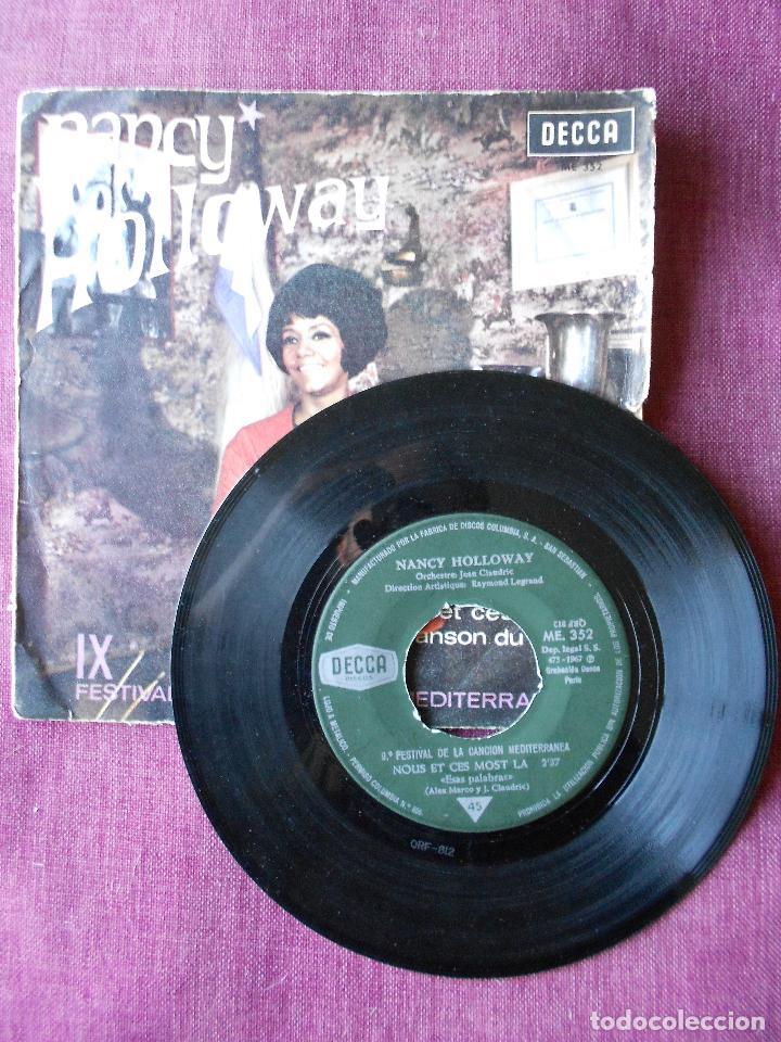 Discos de vinilo: NANCY HOLLOWAY SINGLE NOUS CET CES MOTS LA, DECCA 1967 - Foto 2 - 103487631