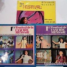 Discos de vinilo: FESTIVALES DE LA CANCIÓN MENSAJE DE LOS COLEGIOS DE MARÍA AUXILIADORA. Lote 103491315