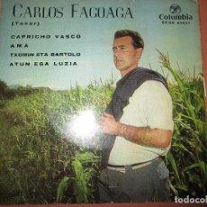 Discos de vinilo: SINGLE-CARLOS FAGOAGA(TENOR)-1965-COLUMBIA-SCGE 80867-BUEN ESTADO-VER FOTOS. Lote 103496471