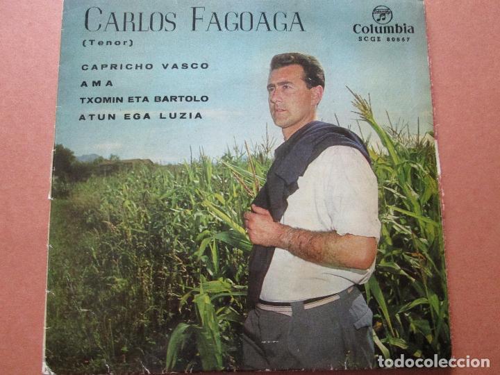 Discos de vinilo: single-carlos fagoaga(tenor)-1965-columbia-scge 80867-buen estado-ver fotos - Foto 2 - 103496471