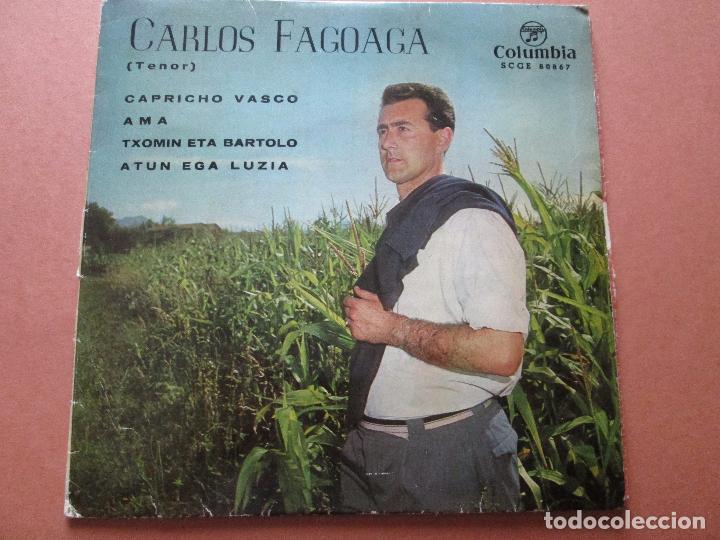 Discos de vinilo: single-carlos fagoaga(tenor)-1965-columbia-scge 80867-buen estado-ver fotos - Foto 3 - 103496471