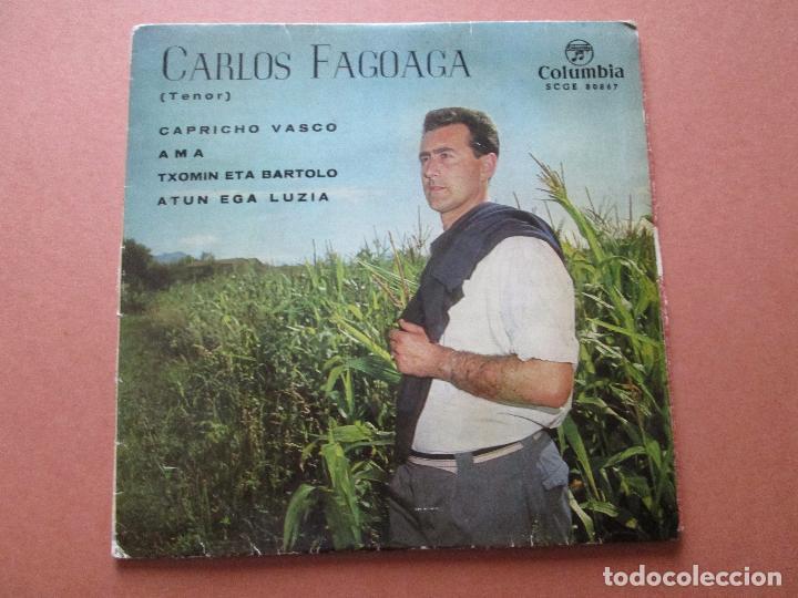 Discos de vinilo: single-carlos fagoaga(tenor)-1965-columbia-scge 80867-buen estado-ver fotos - Foto 7 - 103496471