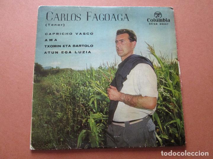 Discos de vinilo: single-carlos fagoaga(tenor)-1965-columbia-scge 80867-buen estado-ver fotos - Foto 8 - 103496471