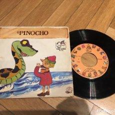 Discos de vinilo: DISCO SINGLE PINOCHO CUENTOS INFANTILES SERIE GUIÑOL ZAFIRO. Lote 103514607