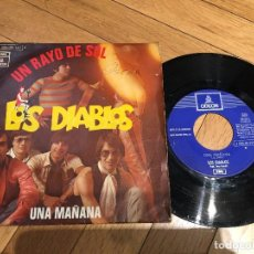Discos de vinilo: VINILO SINGLE LOS DIABLOS UN RAYO DE SOL UNA MAÑANA ODEON. Lote 103522871